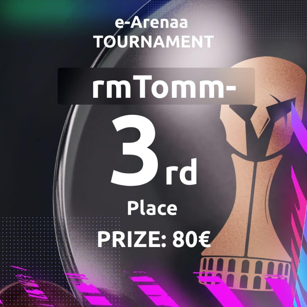 Third place of the 4th e-Arenaa tournament! Congratulations to the winners!