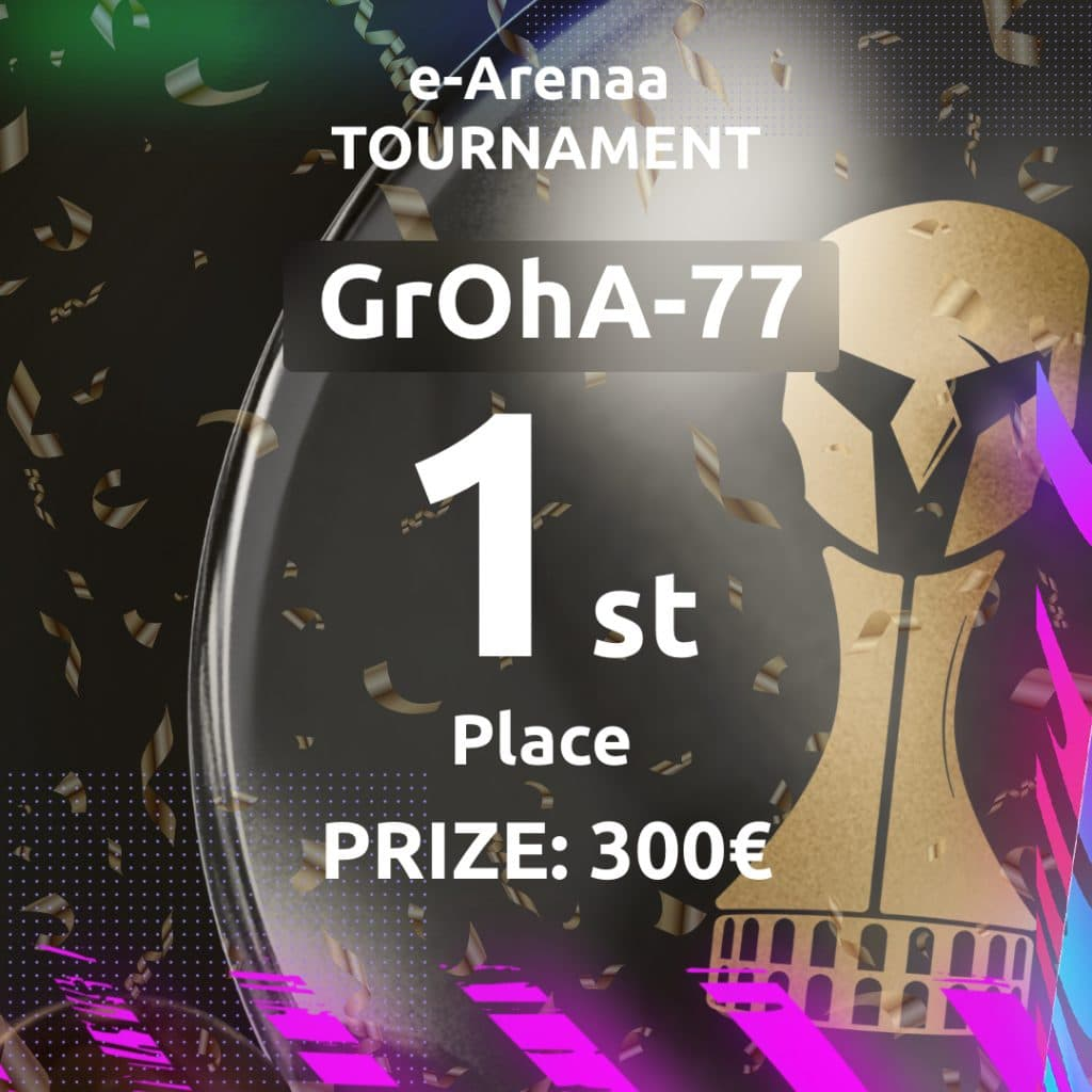 First place of the 4th e-Arenaa tournament! Congratulations to the winners!